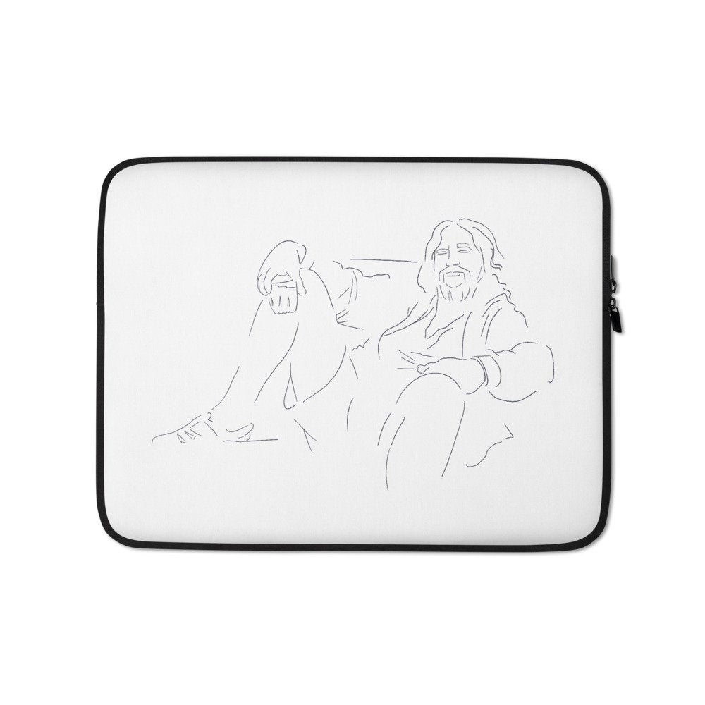 The Dude - Big Lebowski Minimal Art Laptop Sleeve