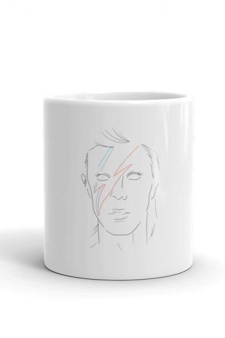 David Bowie Minimalist Design Mug