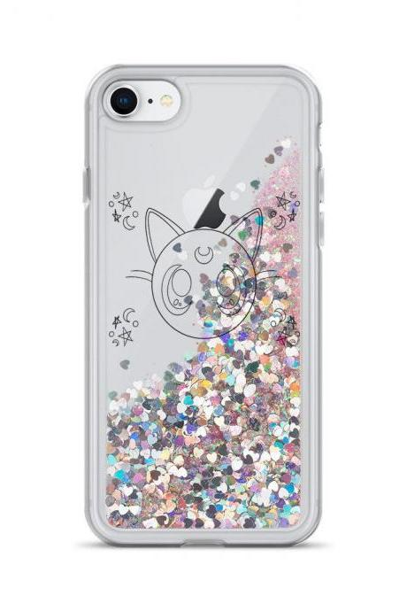 Luna Sailor Moon Liquid Glitter Phone Case