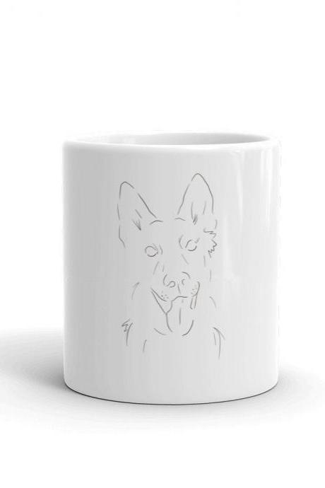 Puppy Love Mug - German Shepherd Minimalist