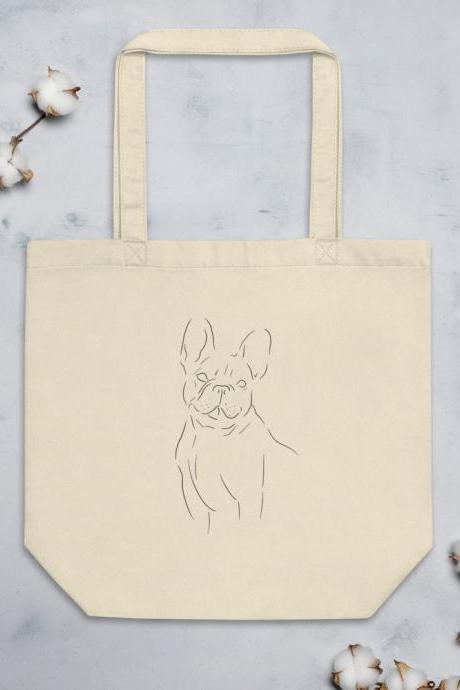 French Bulldog Minimalist Design Eco Tote Bag
