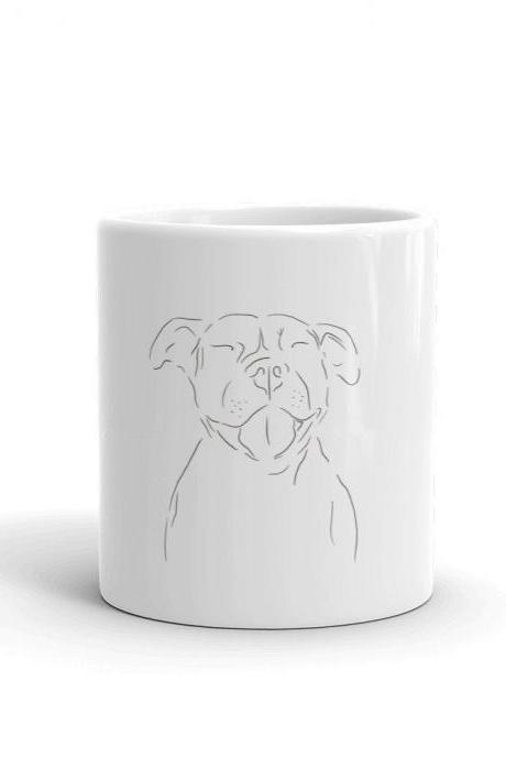 Puppy Love Mug - Pitbull Minimalist