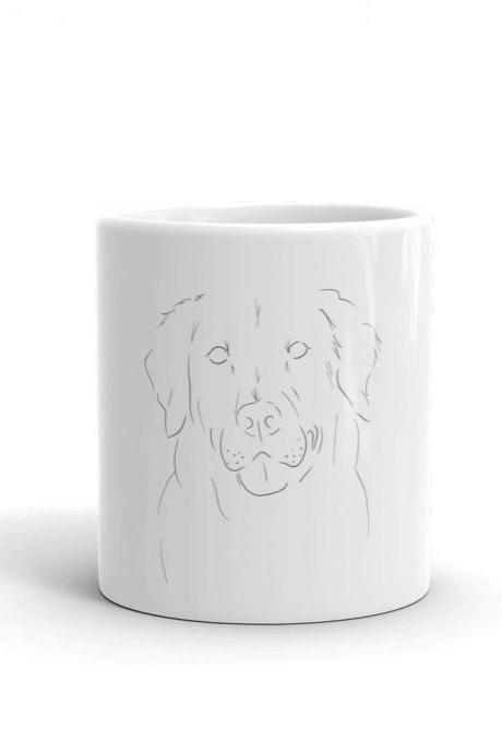 Puppy Love Mug - Golden Retriever Minimalist #2